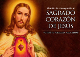 Oración de consagración al Sagrado Corazón de Jesús