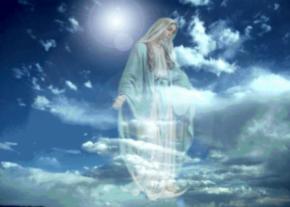 María es inmensamente feliz en el cielo