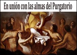 En unión con las almas del Purgatorio