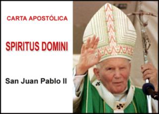 Carta Apostólica Spiritus Domini
