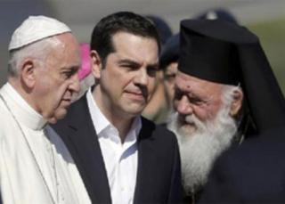 Viaje del papa Francisco a la isla de Lesbos (Grecia)