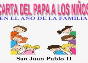 Carta del Papa a los Niños