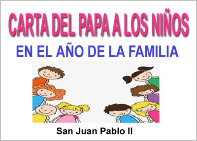 Libro eBook Carta del Papa a los Niños