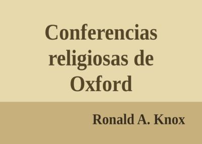 Libro eBook Conferencias religiosas de Oxford