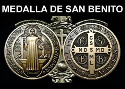 Libro eBook Medalla de san Benito, Explicación